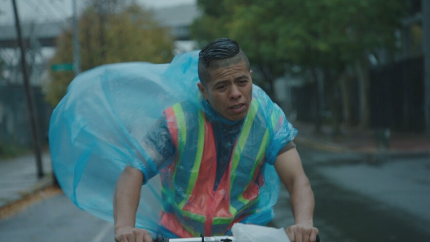 Fernando Cardona, a real-life construction worker and Mexican immigrant, was cast in the lead role in <em>En el Séptimo Día</em>. His character Jose is a restaurant delivery worker and the star of his amateur soccer team.