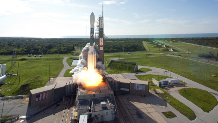NASA's GRAIL mission to study the moon launches aboard a Delta II rocket at Kennedy Space Center on Sept. 10.