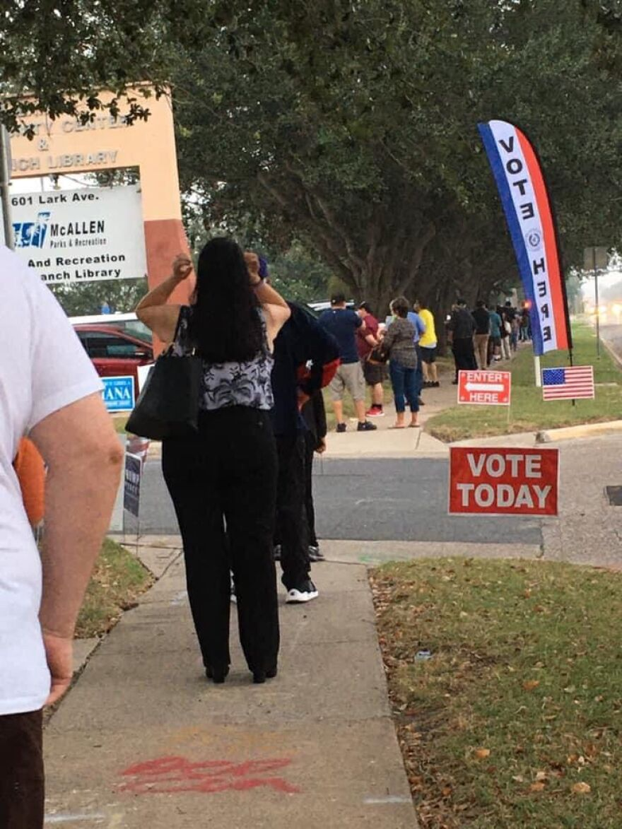 A polling site where Ana Hernandez decided to early vote