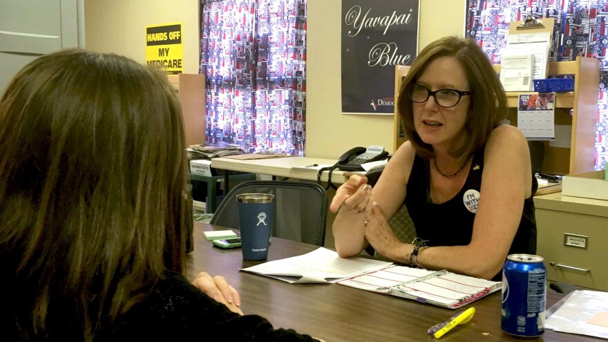 Kari Hull is a field organizer for the Arizona Democratic Party dedicated to Yavapai County, a Republican stronghold.