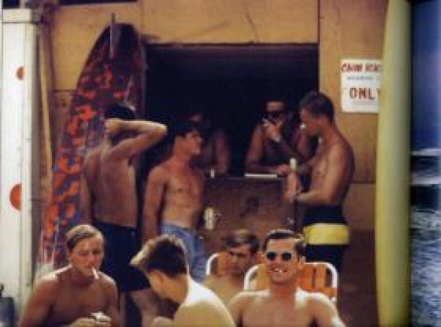 Troops hang out at the China Beach snack bar, an R&R station near a military hospital in  Da Nang, Vietnam.