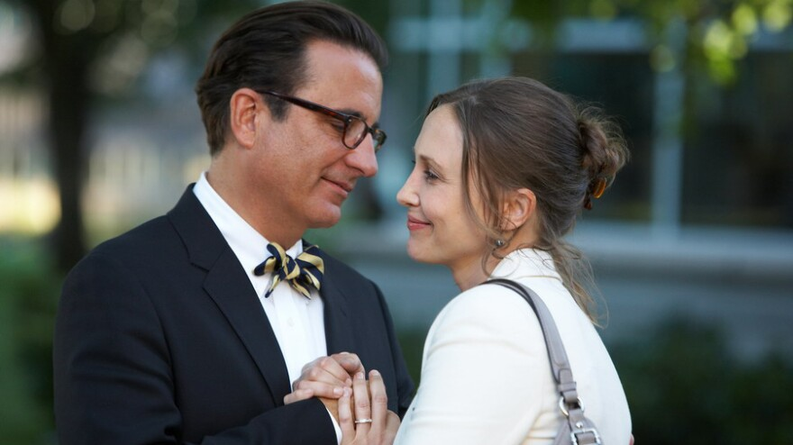Andy Garcia and Vera Farmiga star as two weary strangers who meet — and spark mutual midlife awakenings — while taking their kids on a college tour.
