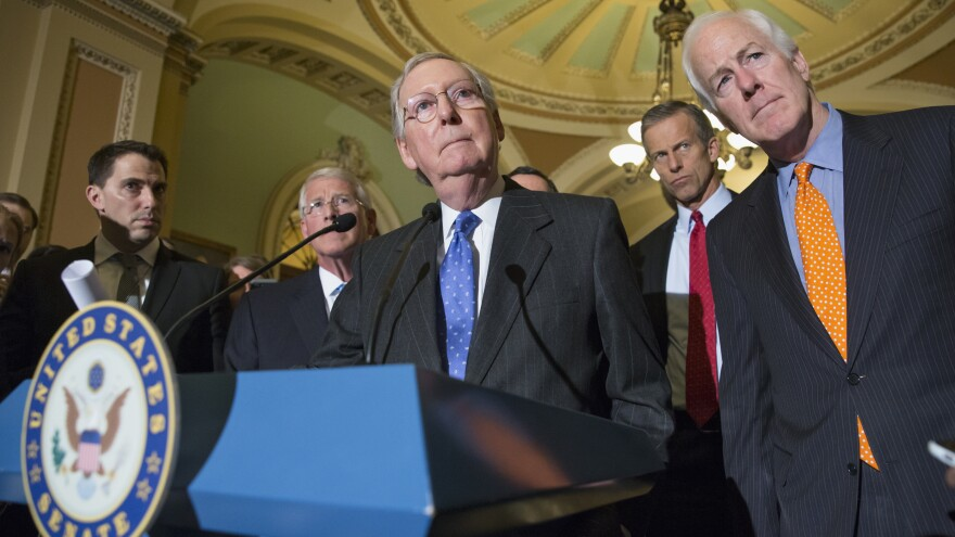 """""""I believe the overwhelming view of the Republican Conference in the Senate is that this nomination should not be filled, this vacancy should not be filled by this lame duck president,"""" Senate Majority Leader McConnell said Tuesday."""