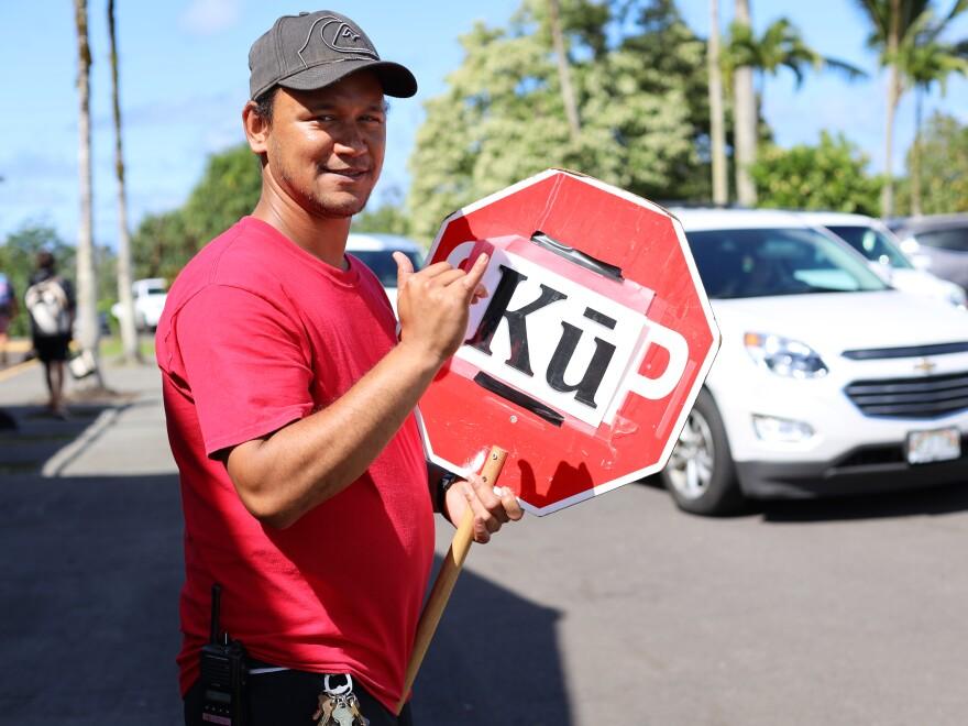 Kealiʻi Clarke graduated from Ke Kula 'O Nawahiokalani'opu'u, a Hawaiian language-medium school, in 2002. Now he works there.