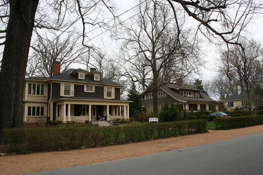 An image of the historic Chapel Hill district