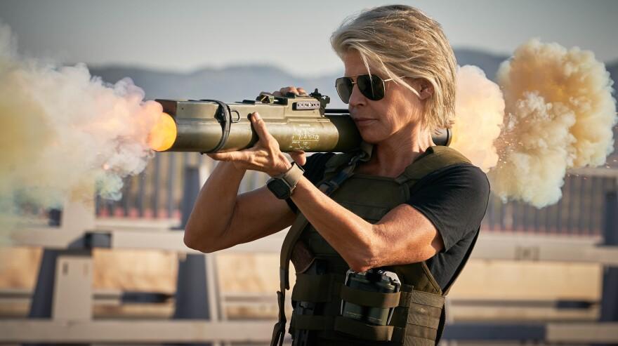 Linda Hamilton returns as Sarah Connor in <em>Terminator: Dark Fate. </em>