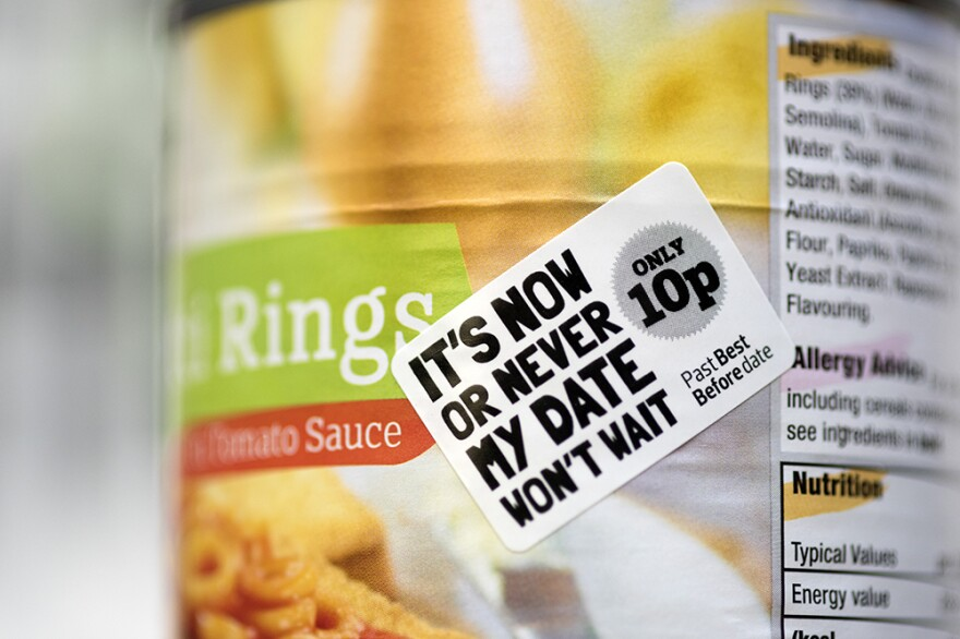 """An English grocery chain says it is now selling products up to a month past their """"Best By"""" dates in an effort to reduce food waste."""
