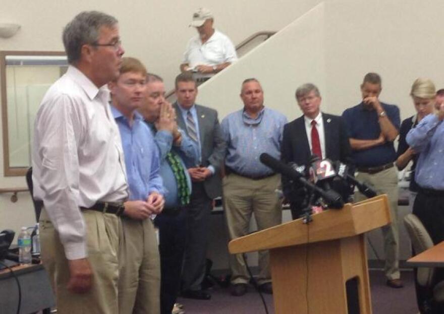 Jeb Bush in Charlotte County.