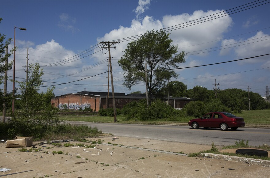 Scott Clark was one of the first East St. Louis residents killed by white mobs on July 2, 1917. Theising said his home once stood near this spot, close to Broadway.