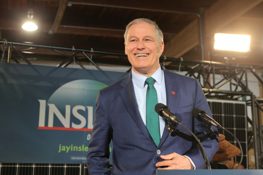 "Washington Gov. Jay Inslee announces his run for the 2020 presidency at A&R Solar on March 1 in Seattle. He says tackling climate change should be ""Job 1"" for the next president."