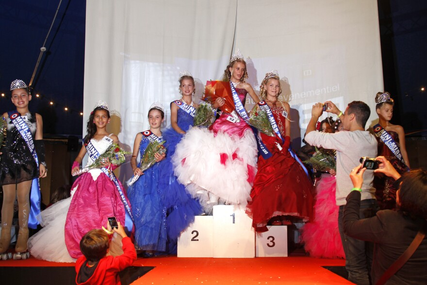 """Proposed legislation in France would ban pageants for the under-16 set, such as this """"Mini-Miss"""" elegance beauty contest for 10-to-12-year-olds, held in Bobigny, near Paris, a year ago."""