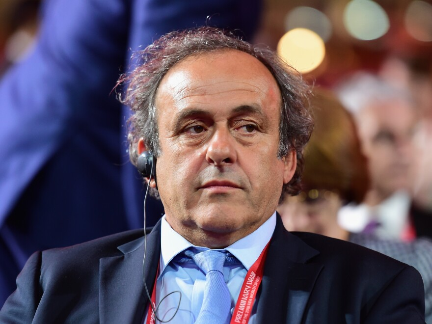 Michel Platini of France announced his campaign for FIFA president and is considered a strong candidate.