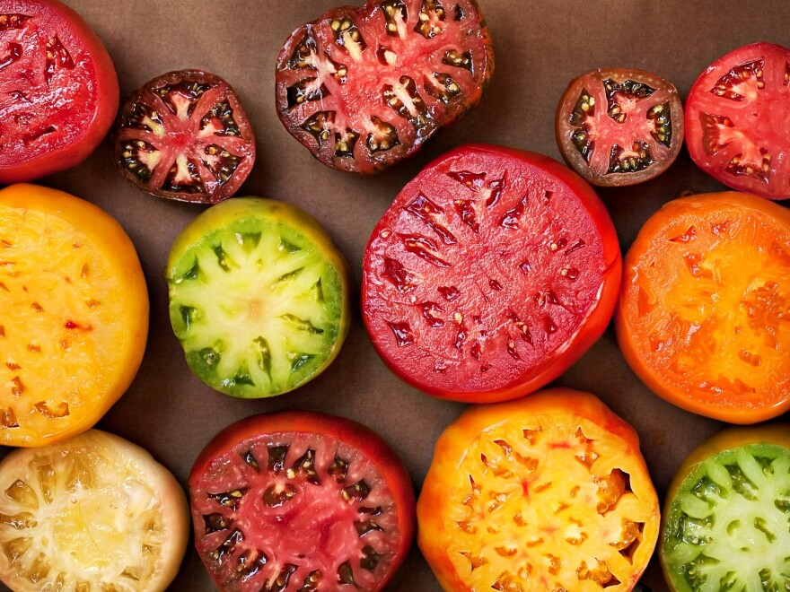 Chef Cassy Vires uses heirloom tomatoes like these in her tomato terrine.