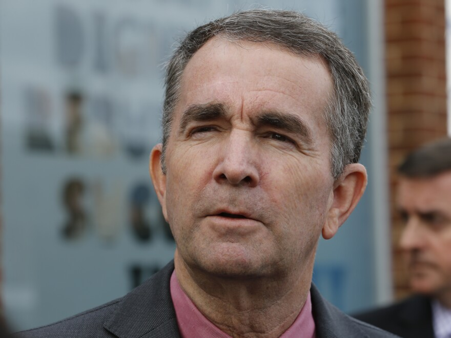 Virginia Gov. Ralph Northam, a Democrat, discusses his legislative criminal justice priorities in Richmond, Va., in January.
