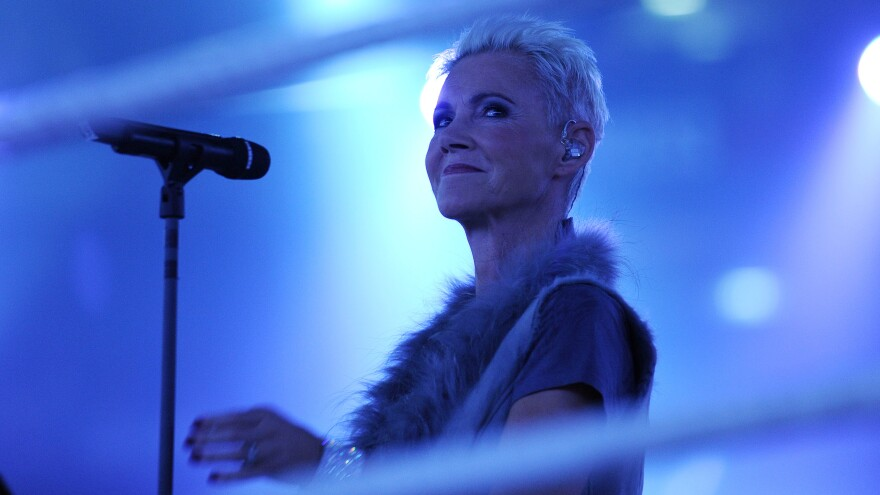 Swedish singer Marie Fredriksson, performing in Cologne, Germany on March 19, 2011.