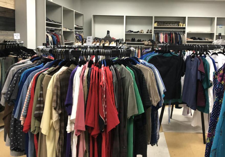 SAC's student resource center also has a clothes closet.