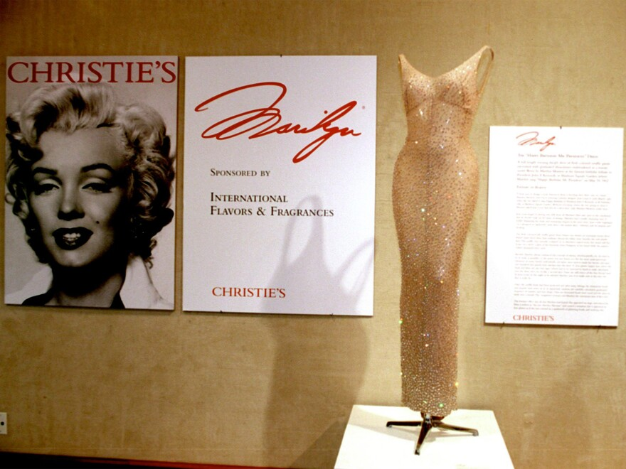 """In 1999, Christie's auctioned the dress Monroe wore when she sang """"Happy Birthday"""" to John F. Kennedy for more than $1 million."""