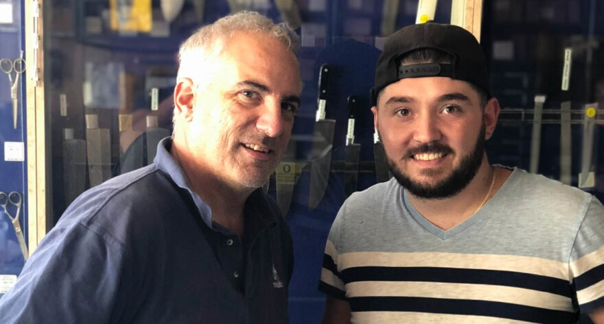 During a StoryCorps interview last week, Joe Bianco, left, and his son Peter, reflected on their craft — one that's been honed in their Brooklyn tool shop for three generations.