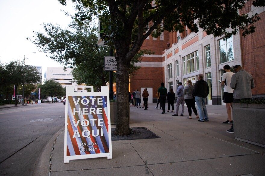 A polling place in Dallas.