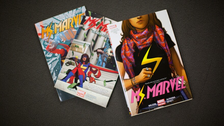 Ms. Marvel comics.