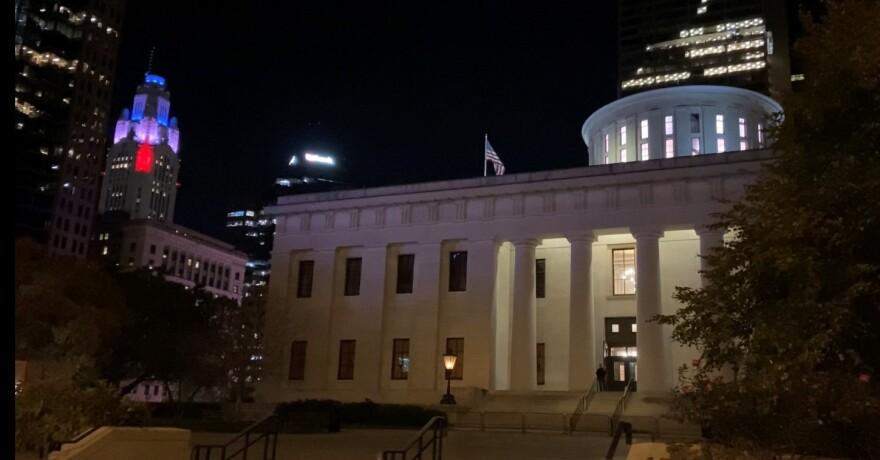 a photo of the Ohio Statehouse