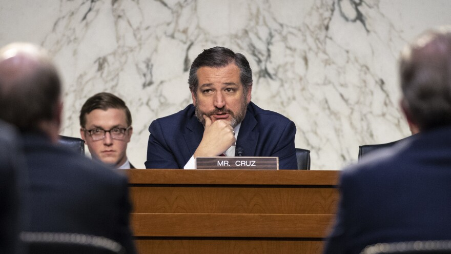 Sen. Ted Cruz, R-Texas, is suing the Federal Election Commission to overturn a rule regulating personal loans to political campaigns.