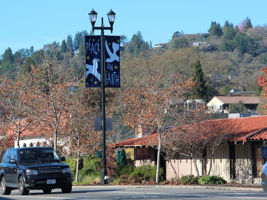 The neighborhoods of Lafayette, Calif., lie amid hills east of San Francisco Bay.