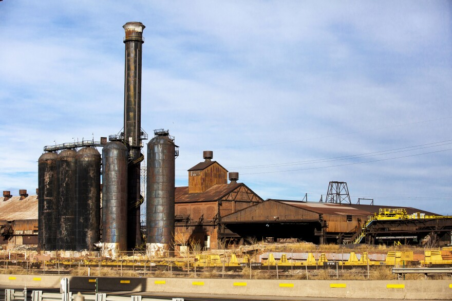 The historic Colorado Fuel and Iron Company furnace stands in Pueblo, Colo. Mills like this one gave this place its nickname, Steel City. Today only about 6% of the city's jobs are in manufacturing.