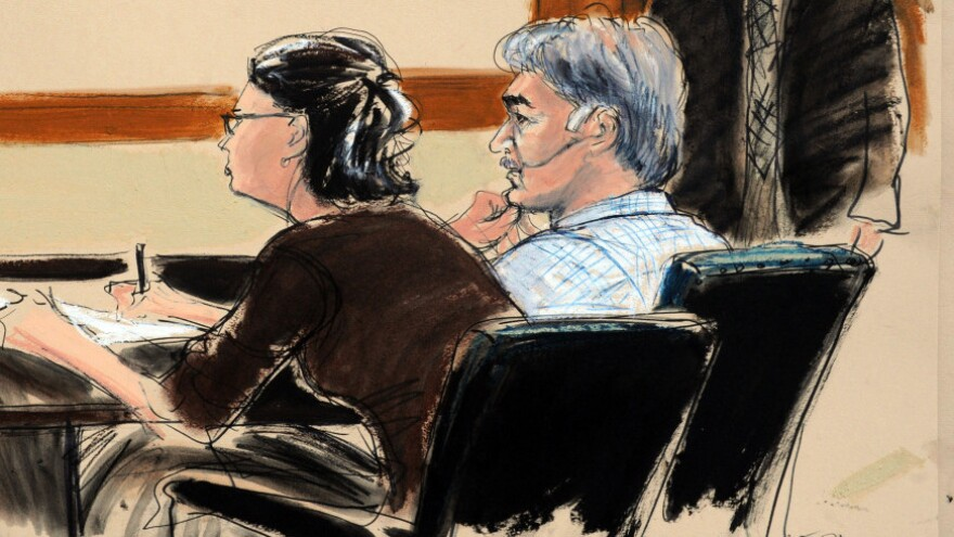 <p>In this courtroom sketch, defendant Manssor Arbabsiar and defense attorney Sabrina Shroff appear in court in New York on Tuesday. Arbabsiar has been charged in an alleged plot to assassinate Saudi Arabia's ambassador to the U.S.</p>