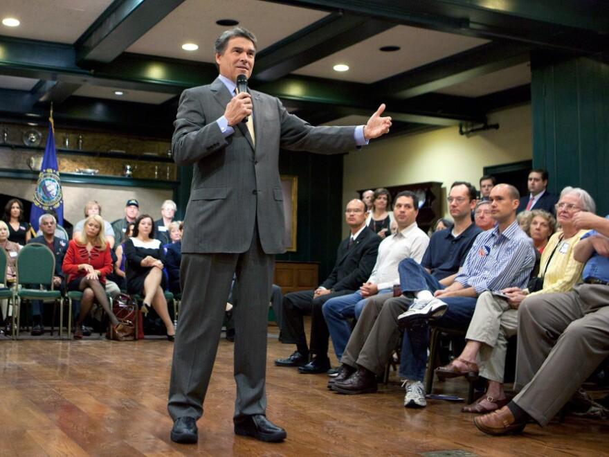 <p>Texas Gov. Rick Perry speaks to Hampton, NH audience, Oct. 1, 2011.</p>