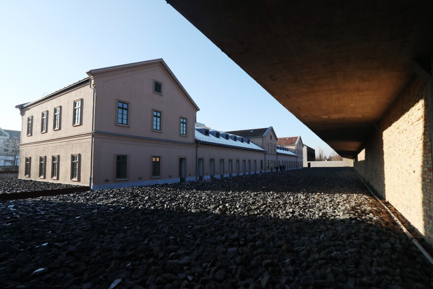 The House of Fates is located on the site of a former railway station that saw the deportation of tens of thousands of Jews during World War II.