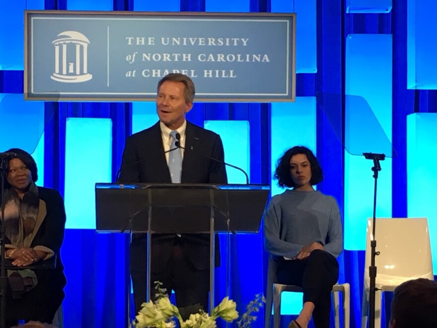 File photo of UNC Chapel Hill Chancellor Kevin Guskiewicz, Dec. 2019.
