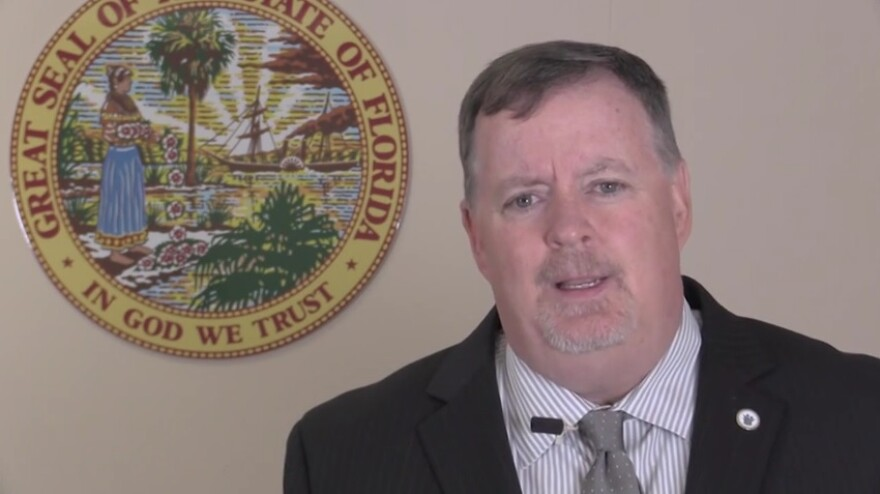 Florida Department of Children and Families Secretary Mike Carroll speaking in his latest video vlog.