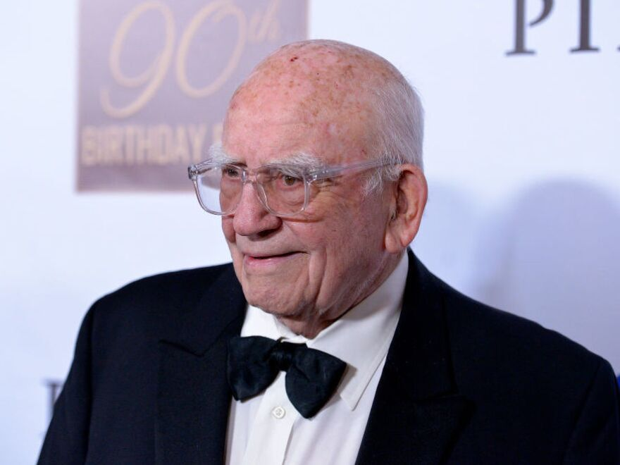 Actor Ed Asner, attending his 90th birthday party in Nov. 2019 in Hollywood, Calif.