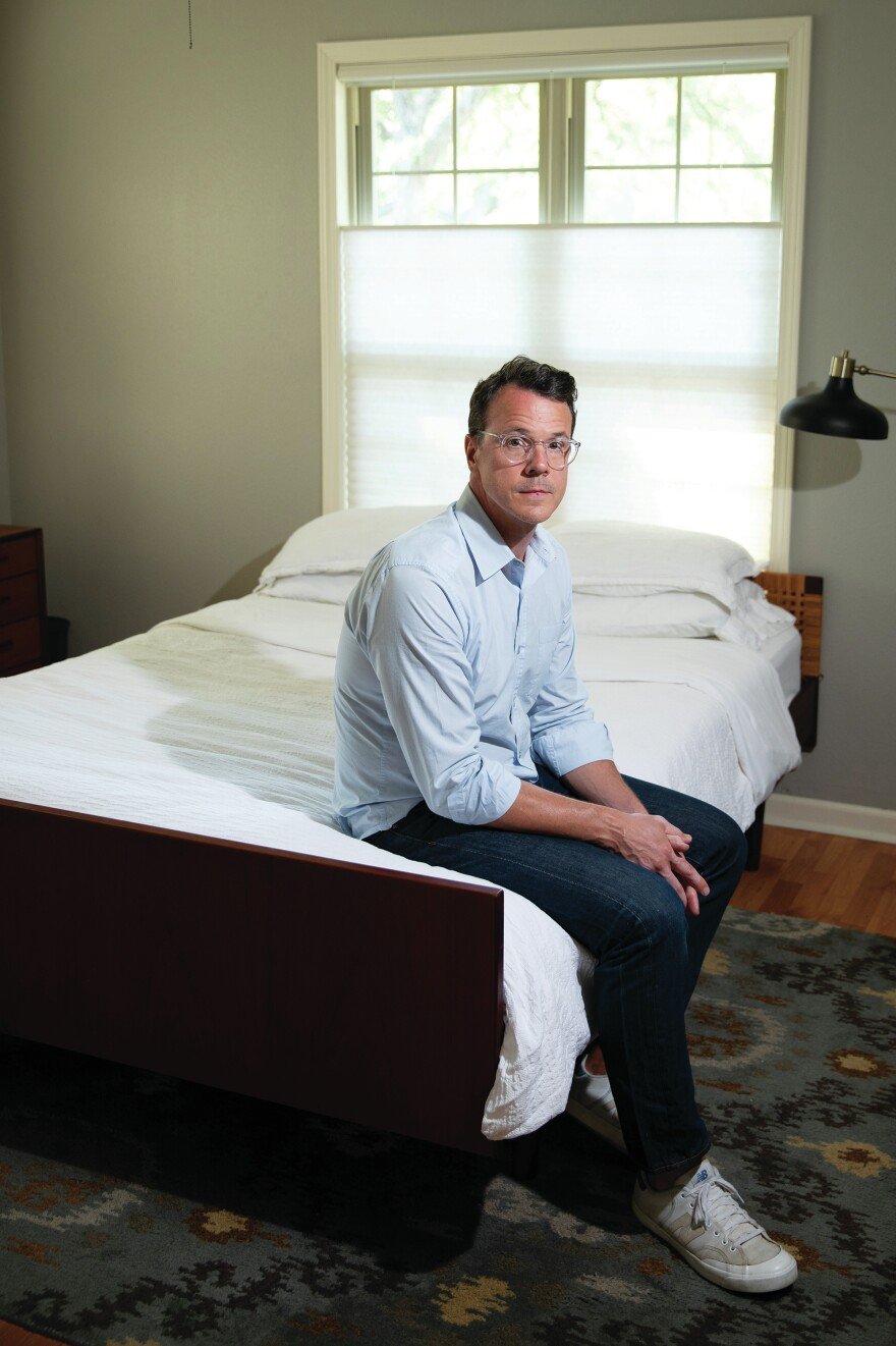 "When Drew Calver collapsed in his bedroom from a heart attack, he lay on the floor pounding his fists in pain. ""I thought I was dying,"" he said."