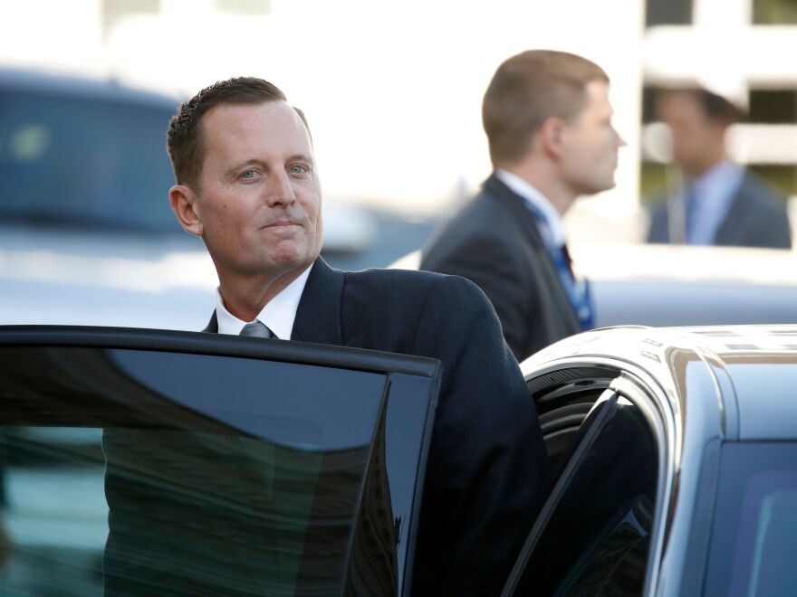 U.S. Ambassador to Germany Richard Grenell gets in his car after an accreditation ceremony for new ambassadors in Berlin on May 8.