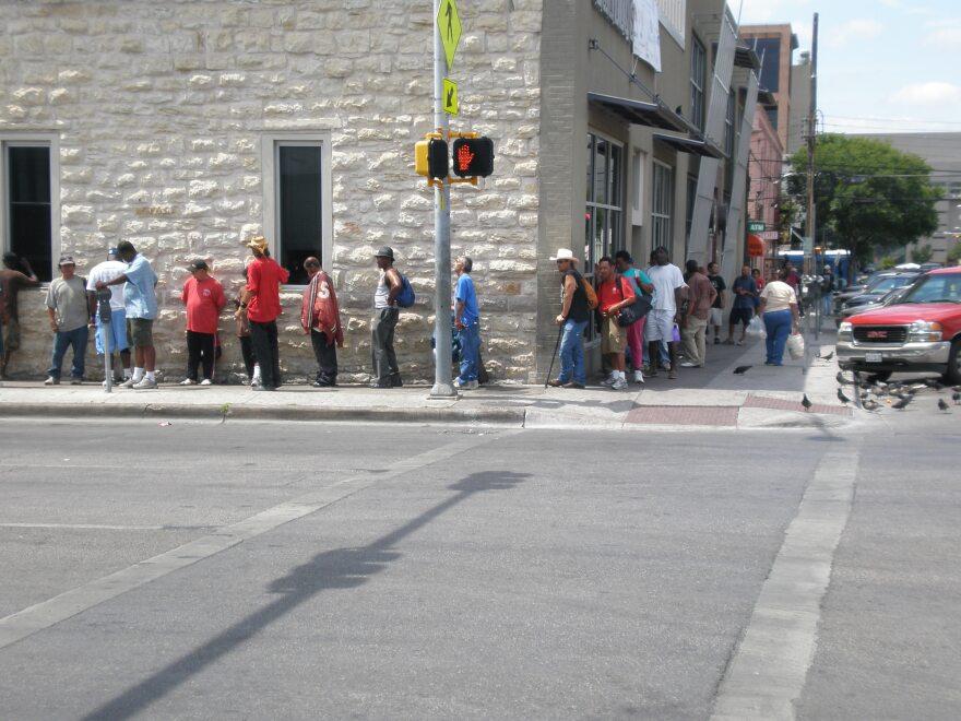 Homeless in Line.JPG