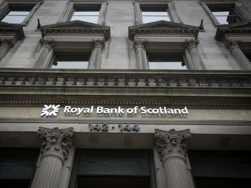 A branch of the Royal Bank of Scotland is in Edinburgh. The Royal Bank of Scotland and Lloyds Bank promise to move their headquarters to London if Scotland exits the U.K.