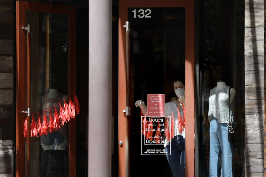 Shops in the Domain began reopening May 1 as the state moved into phase one of Gov. Greg Abbott's plan to reopen the Texas economy.