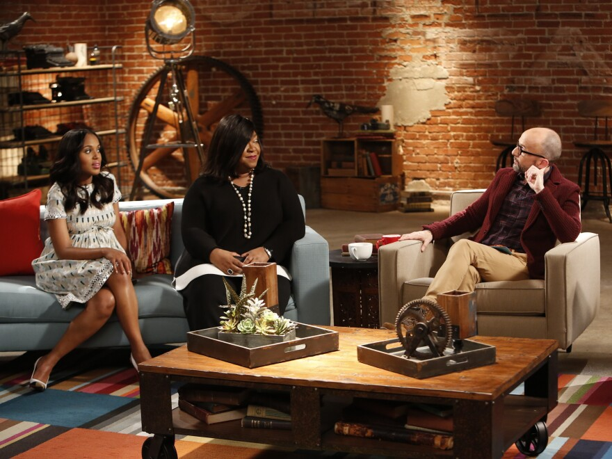 Kerry Washington, Shonda Rhimes and Jim Rash chat about how <em>Scandal </em>is written on Sundance's <em>The Writers' Room</em>.