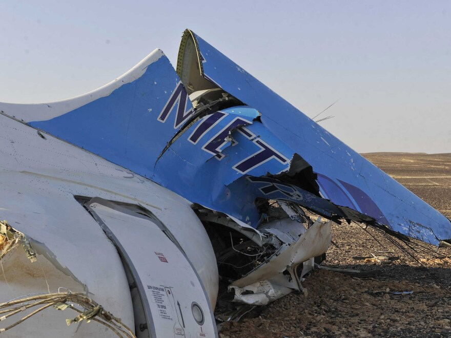 The Russian aircraft carrying 224 people crashed Saturday in a remote mountainous region in the Sinai Peninsula about 20 minutes after taking off from the Egyptian Red Sea resort town of Sharm el-Sheikh.