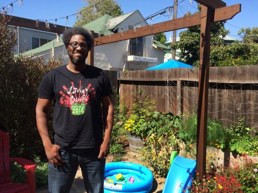 Comedian W. Kamau Bell at home in Berkeley, Calif.
