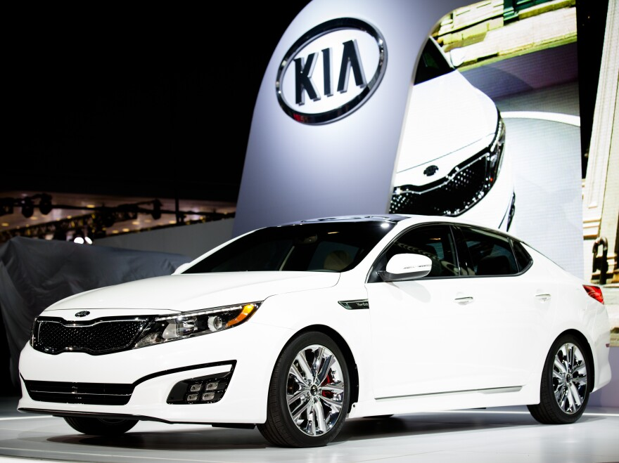The 2014 Kia Optima, pictured here in 2013, is one of the vehicles included in new probes by the National Highway Traffic Safety Administration.