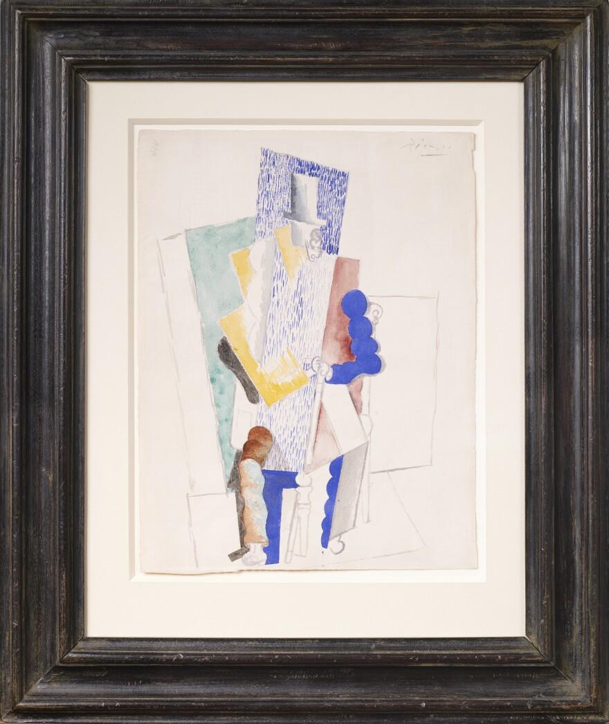 Pablo Picasso drew <em>L'Homme au Gibus</em>, or <em>Man With Opera Hat</em>, in 1914.