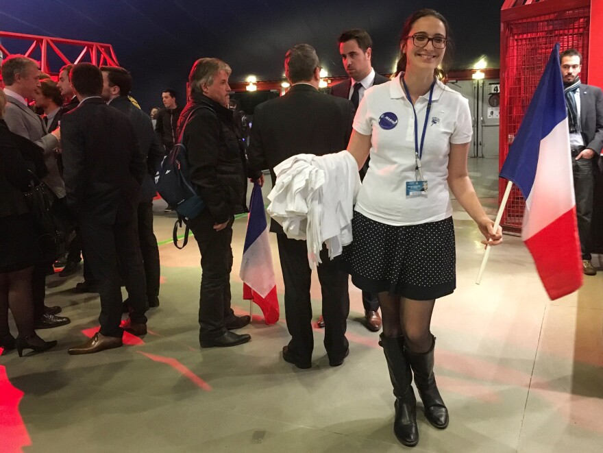 """Manon Bouquin, a 24-year-old supporter of Marine Le Pen, describes the far-right presidential candidate as """"strong, charismatic, powerful, brave,"""" characteristics she says are usually attributed to men."""