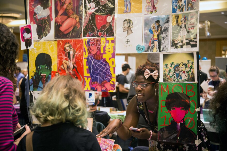The Small Press Expo holds a yearly lottery for some of the tables, which allows for new artists to exhibit.