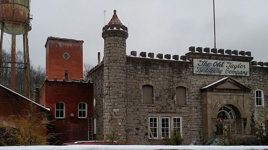 This is the original Old Taylor Distilling Co. castle in 2016. At the time, the property was still under renovation.