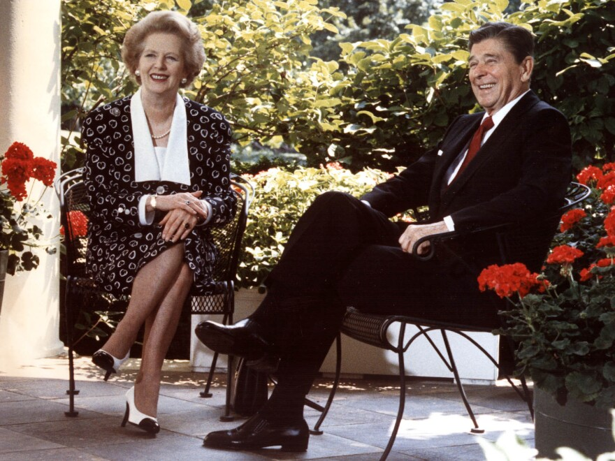 U.S. President Ronald Reagan and British Prime Minister Margaret Thatcher in 1987.