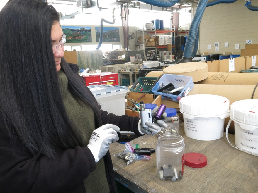 Shelly Fuller manager Boulder County's hazardous materials program. She says vaping devices shouldn't be dumped in the trash, but instead should be dropped off at a facility like hers for proper disposal.