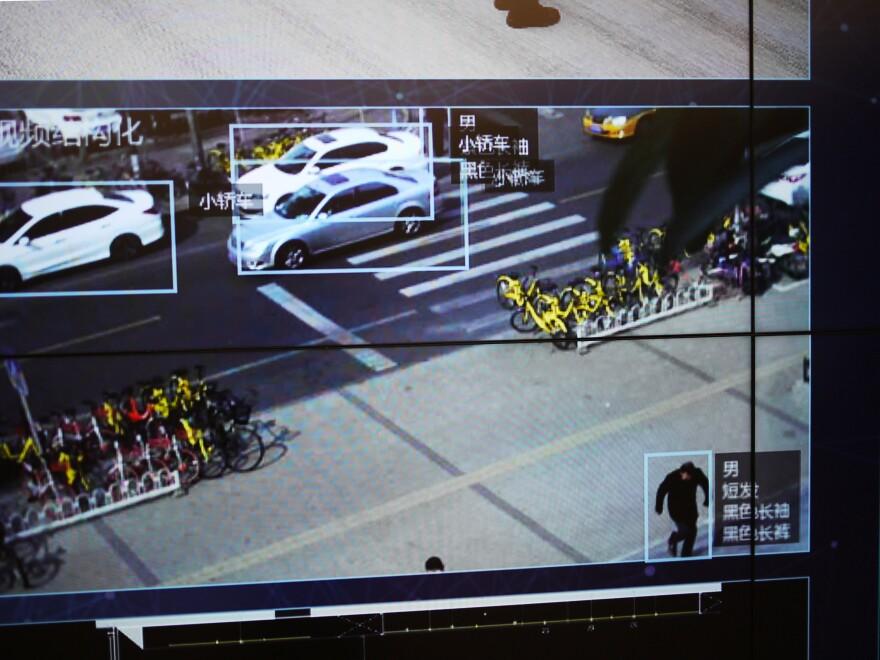 Megvii cameras capture images of a Beijing street.